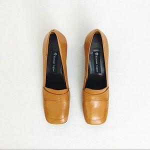 Vintage ✨ Etienne Aigner Square Toe Leather Heels